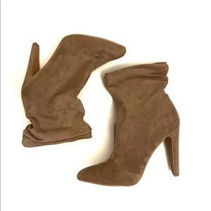 So Me Suede Ankle Booties